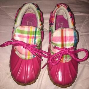 "Girls ""Duckie"" Sperry boots size 11 girls"